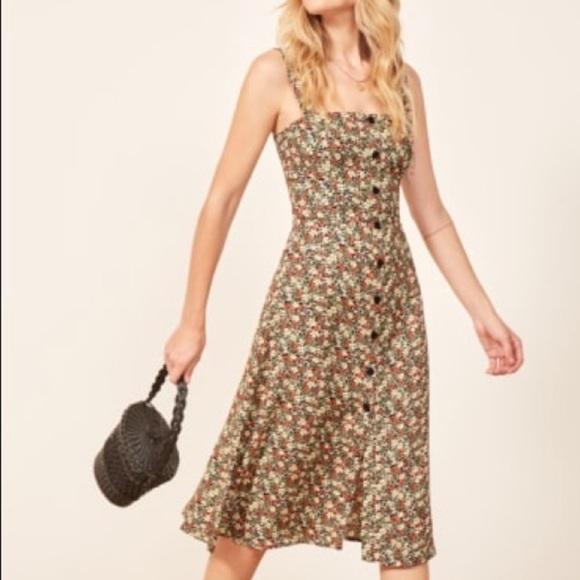 e4e3fb06b86 NWT reformation persimmon a Line Midi dress